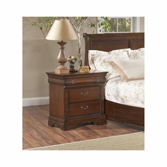 Bordeaux Nightstand Brown Cherry - Largo - LARGO-ST-B4300-40
