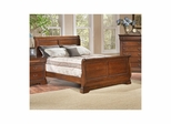 Bordeaux Sleigh Bed Brown Cherry - Largo - LARGO-ST-B4300-SLEIGH-BED