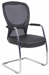 Boss Budget Mesh Guest Chair in Black - B6509C