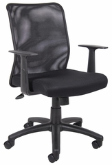 Boss Budget Mesh Task Chair in Black - B6106