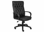Boss Button Tufted Executive Chair In Black - B8501-BK