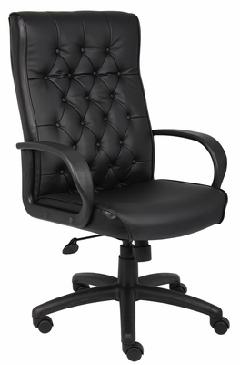 Boss Button Tufted Executive Chair In Black - B8502-BK
