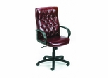 Boss Button Tufted Executive Chair In Burgundy - B8501-BY