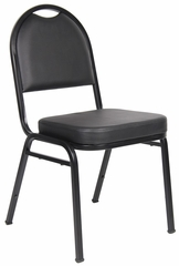 Boss Caressoft Banquet Chair in Black - B1500-CS-4