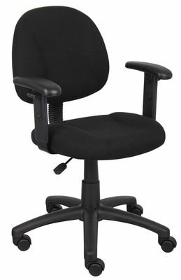 Boss Deluxe Posture Chair in Black - B316-BK
