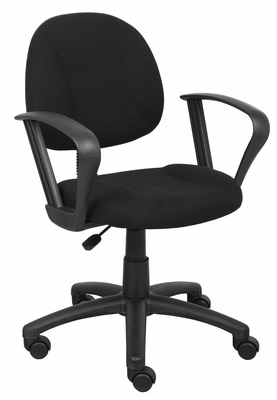 Boss Deluxe Posture Chair in Black - B317-BK