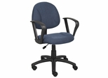 Boss Deluxe Posture Chair in Blue - B317-BE