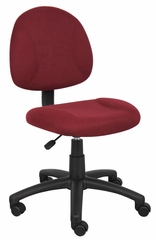 Boss Deluxe Posture Chair in Burgundy - B315-BY
