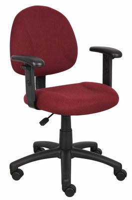 Boss Deluxe Posture Chair in Burgundy - B316-BY