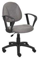 Boss Deluxe Posture Chair in Grey - B317-GY