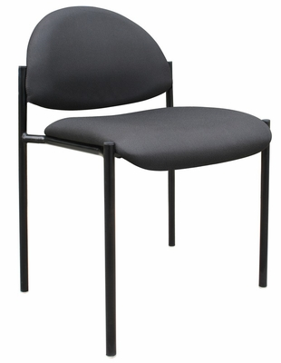 Boss Diamond Stacking Chair In Black - B9505-BK