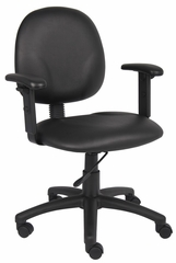 Boss Diamond Task Chair In Black - B9091-CS