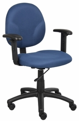 Boss Diamond Task Chair In Blue - B9091-BE