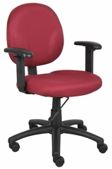 Boss Diamond Task Chair In Burgundy - B9091-BY