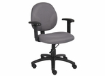 Boss Diamond Task Chair In Grey - B9091-GY