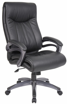 Boss Double Layer Executive Chair in Leatherplus Black - B8661