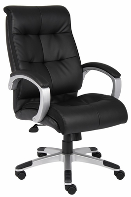 Boss Double Plush High Back Executive Chair in Black - B8771S-BK
