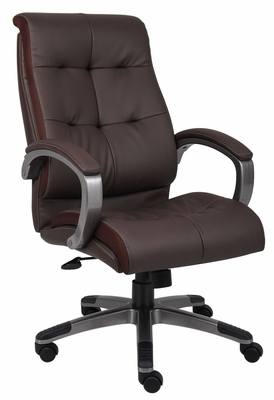 Boss Double Plush High Back Executive Chair in Brown - B8771P-BN