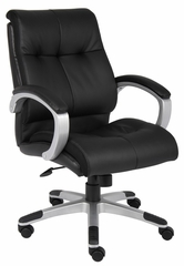 Boss Double Plush Mid Back Executive Chair in Black - B8776S-BK
