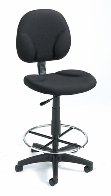Boss Drafting Chair in Black - B1690-BK