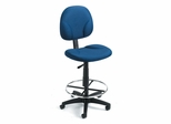 Boss Drafting Chair in Blue - B1690-BE