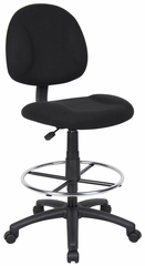 Boss Drafting Stool in Black - B1615-BK