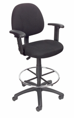 Boss Drafting Stool in Black - B1616-BK