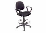 Boss Drafting Stool in Black - B1617-BK