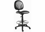 Boss Drafting Stool in Black - B1690-CS