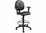 Boss Drafting Stool in Black - B1691-CS