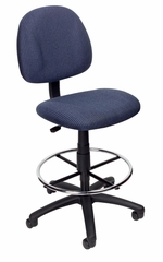 Boss Drafting Stool in Blue - B1615-BE