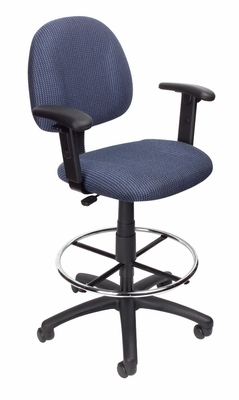 Boss Drafting Stool in Blue - B1616-BE