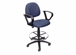 Boss Drafting Stool in Blue - B1617-BE
