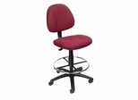 Boss Drafting Stool in Burgundy - B1615-BY