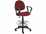 Boss Drafting Stool in Burgundy - B1617-BY