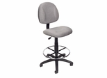Boss Drafting Stool in Grey - B1615-GY