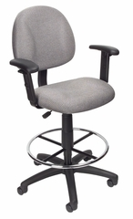 Boss Drafting Stool in Grey - B1616-GY