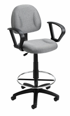 Boss Drafting Stool in Grey - B1617-GY