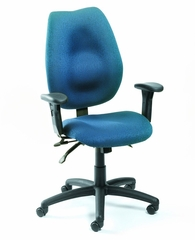 Boss Ergonomic Office Chair in Blue - B-1002-BE