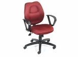 Boss Ergonomic Office Chair in Burgundy - B1015-BY