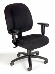 Boss Ergonomic Task Chair in Black - B495-BK