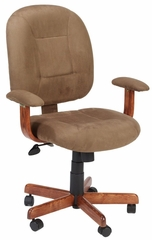Boss Ergonomic Task Chair in Dark Oak / Cappuccino Microfiber - B497-DKC