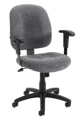 Boss Ergonomic Task Chair in Smoke - B495-SM