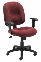 Boss Ergonomic Task Chair in Wine - B495-WN
