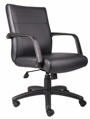 Boss Executive Chair in Leatherplus Black - B686