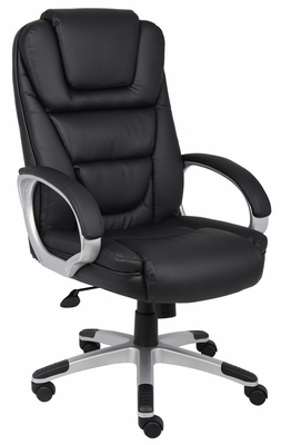 Boss Executive Chair in Leatherplus Black - B8601