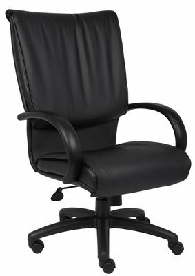 Boss Executive Chair in Leatherplus Black - B9701