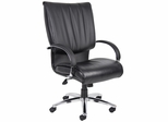 Boss Executive Chair in Leatherplus Black - B9701C
