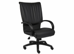 Boss Executive Chair in Leatherplus Black - B9702