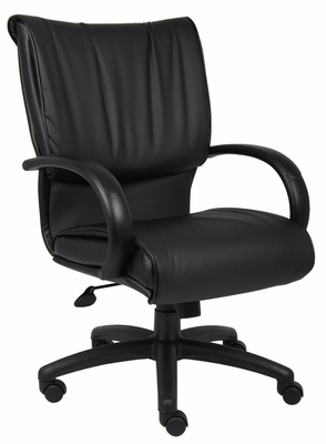 Boss Executive Chair in Leatherplus Black - B9706